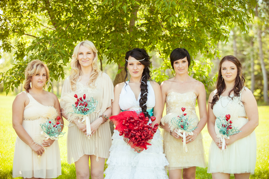 Whimsical Mismatched Bridesmaids | Love Wed Bliss