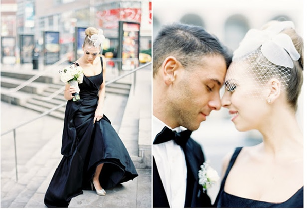 black wedding dress How to Make a Coloured Wedding Dress Work for You