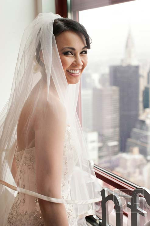 Bride on Empire State Building