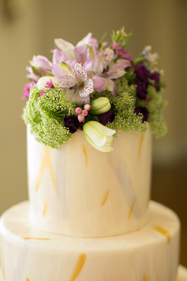 Gold and Purple Wedding Cake Ideas