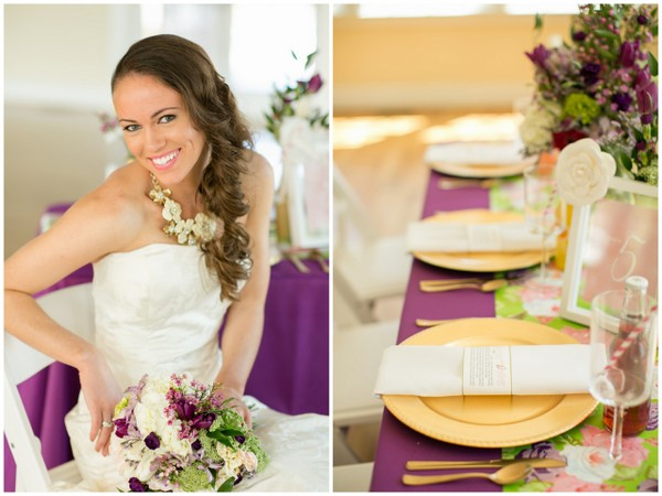 Lush Purple And Gold Wedding Ideas