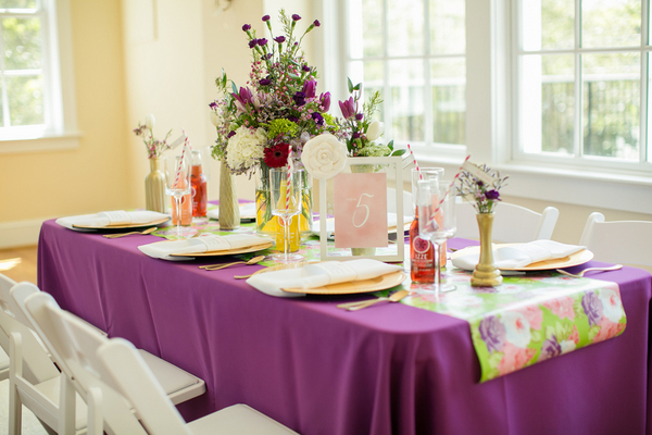 Purple and Gold Wedding Reception Ideas