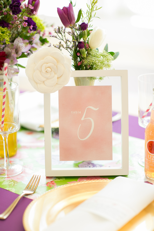 Purple and Gold Wedding Table Ideas