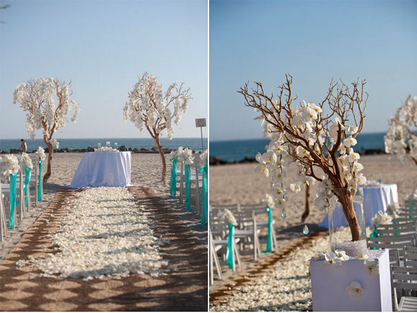 Manzanita Branches in Aisle Decor
