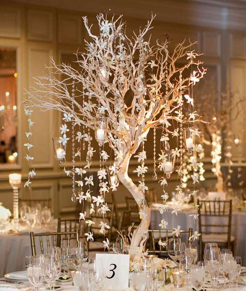 Manzanita Branches with Candles