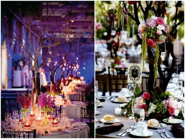 Manzanita Centerpieces & Decorations