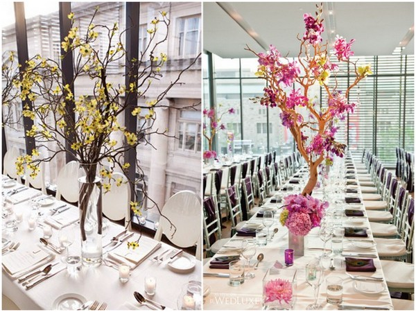 Manzanita Wedding Centerpieces