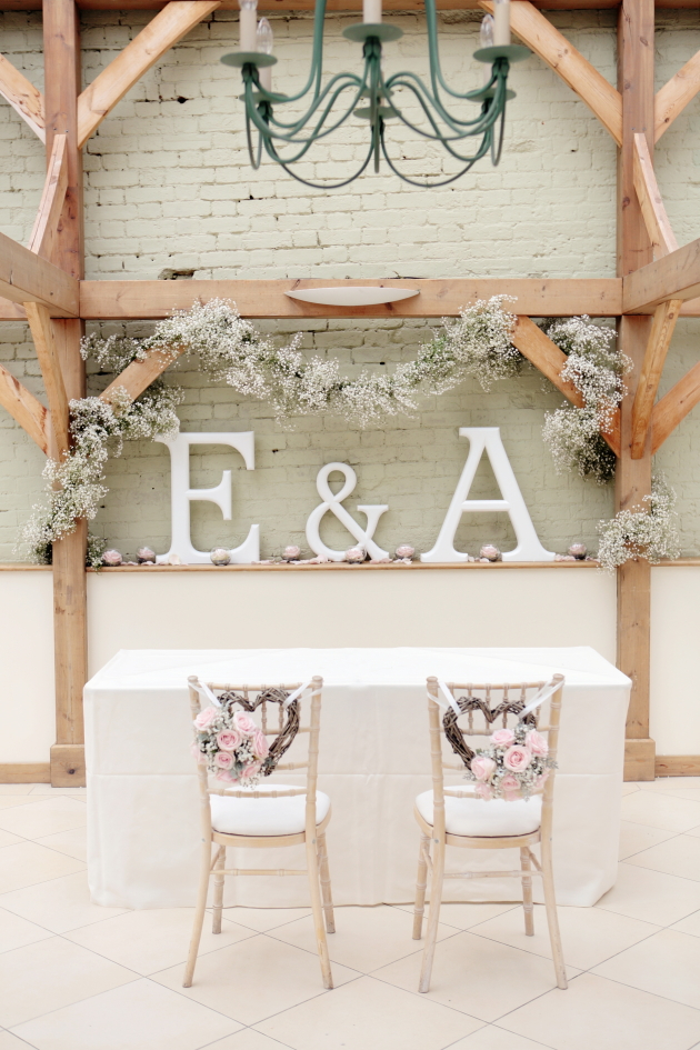 Pale Pink and Grey Chair Decor
