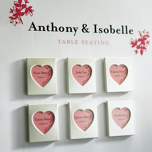Heart Magnet Wedding Favors | Love Wed Bliss