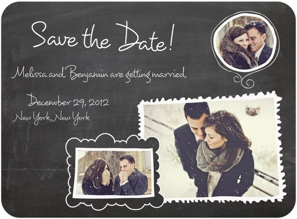 Photo Save The Date: Chalk Frame Charm