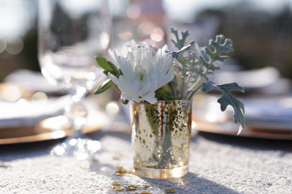 Mint Green + Gold Wedding Decoration