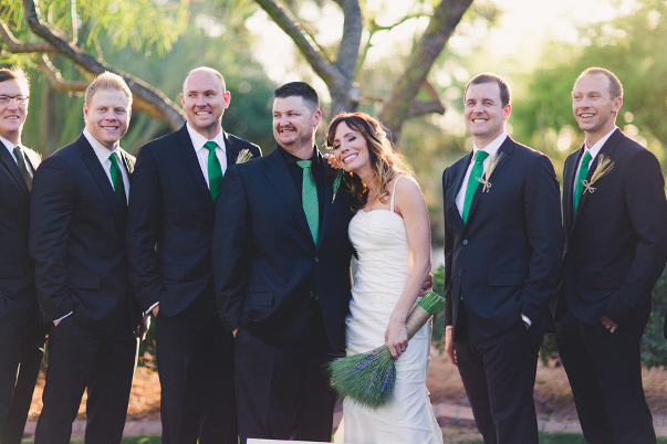 Green Wedding Theme Groomsmen Ideas