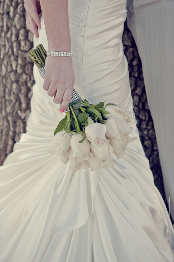 White Rose Bouquet in After Wedding Shoot