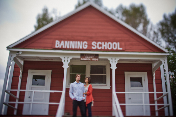 Heritage Schoolhouse Engagement Shoot