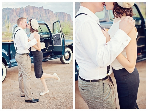 Bonnie and Clyde Engagement Photos | Love Wed Bliss
