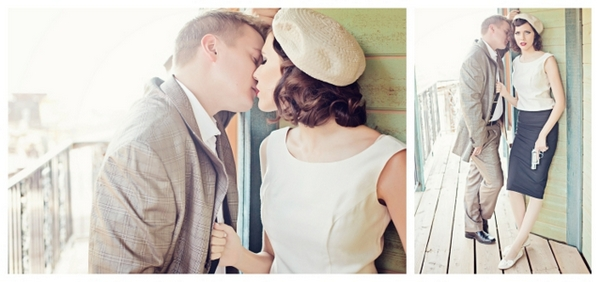 Bonnie and Clyde Inspired Engagement | Love Wed Bliss