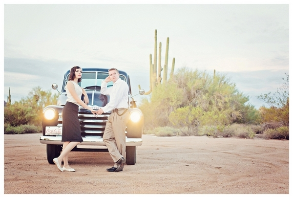 Bonnie and Clyde Theme Engagement Pictures | Love Wed Bliss