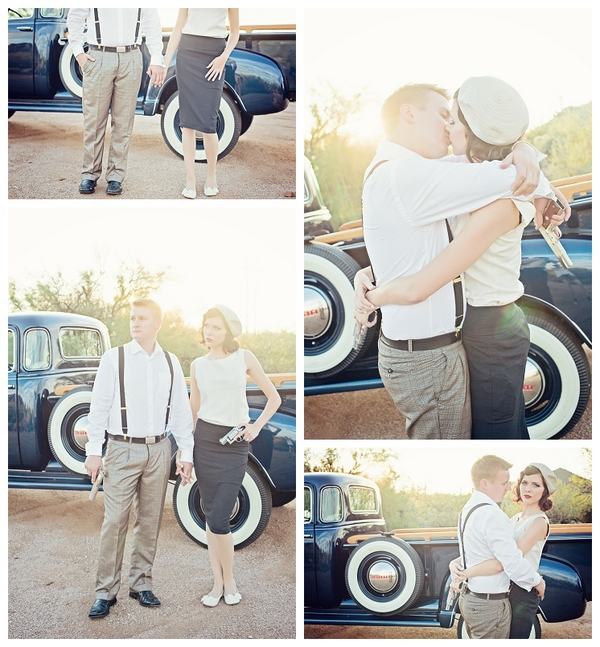 Bonnie and Clyde Theme Engagement Session | Love Wed Bliss