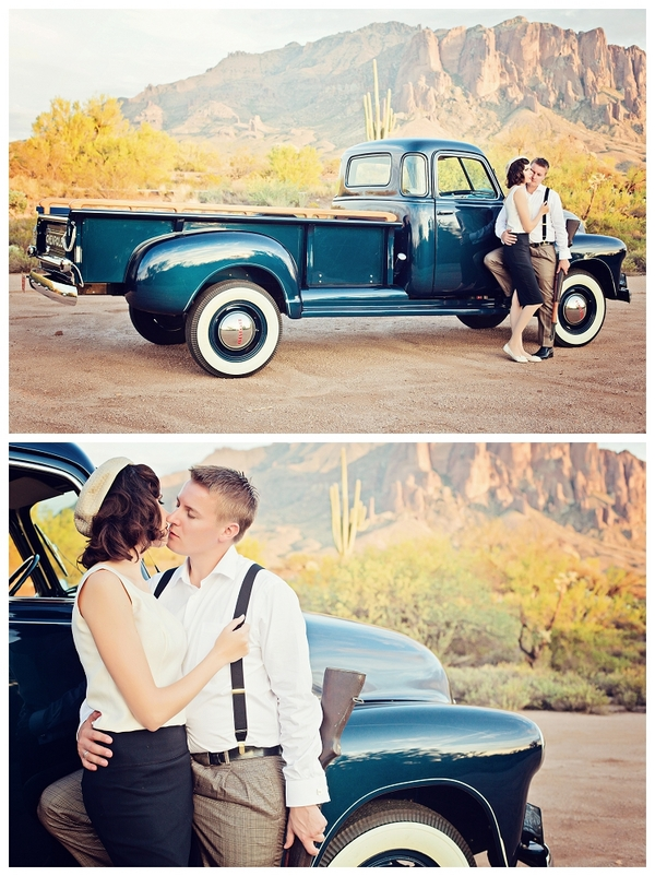 Bonnie and Clyde Theme Engagement Shoot | Love Wed Bliss
