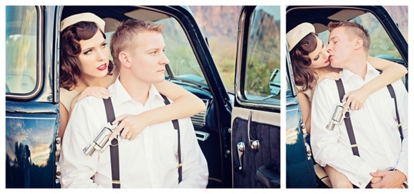 Engagement Photos Bonnie and Clyde | Love Wed Bliss