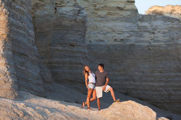 Engagement Shoot at Monument Rocks