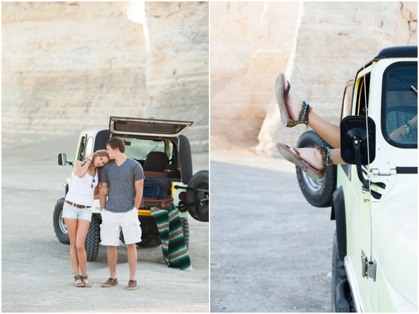 road trip engagement pictures Celebrate Adventure Styled Engagement Shoot by Rose Wheat Photography
