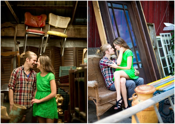 engagement session ideas new york Antique Shop Love Shoot by Janelle Rodriguez Photography