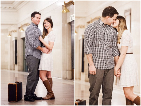 New York Grand Central Station Engagement Shoot
