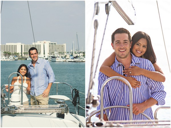 Sailboat Engagement Coronado California
