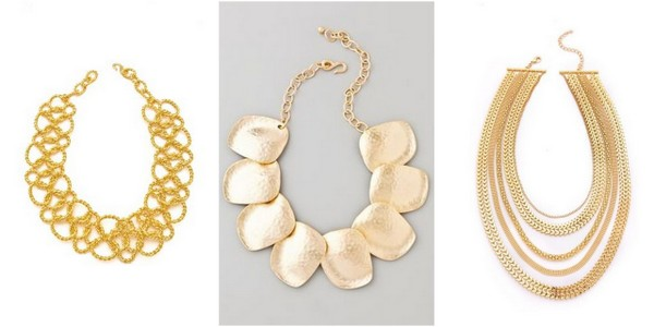 gold statement necklaces 6 Styles of Statement Necklaces for Modern Brides