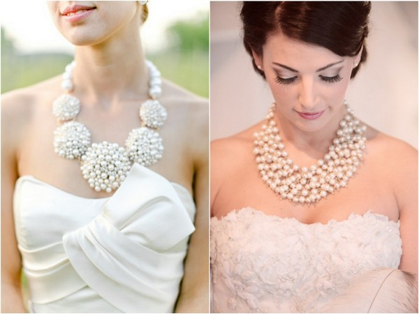 statement necklaces for brides 2 6 Styles of Statement Necklaces for Modern Brides