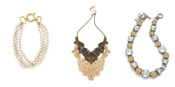 vintage style statement necklaces 6 Styles of Statement Necklaces for Modern Brides