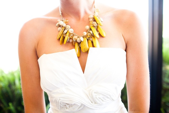 Yellow Statement Necklace | Love Wed Bliss