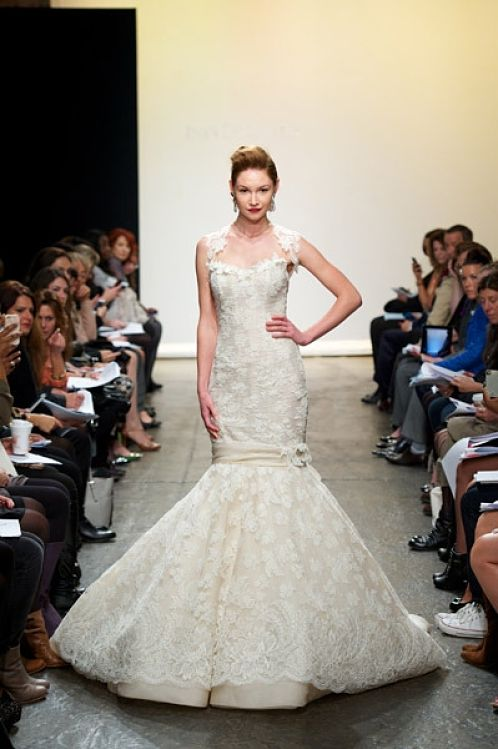 Fishtail Wedding Gown by Ines De Santo Fall 2013 | Love Wed Bliss
