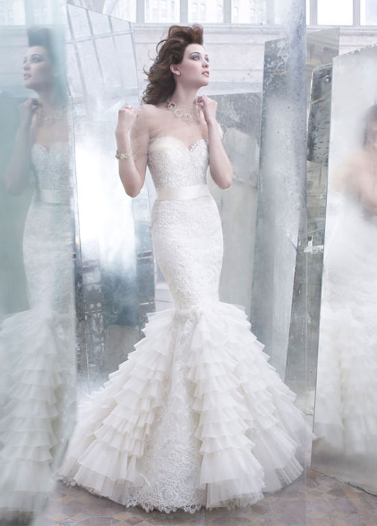 Mermaid Wedding Gown by Lazaro | Love Wed Bliss
