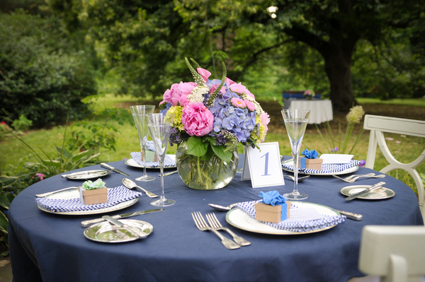 Elegant Backyard Wedding Centerpiece