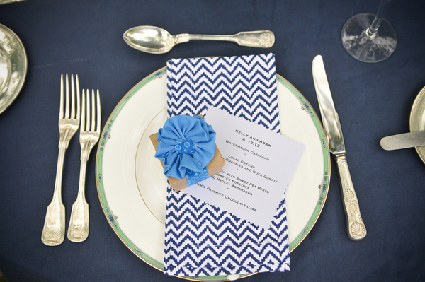 Elegant Backyard Wedding Place Setting