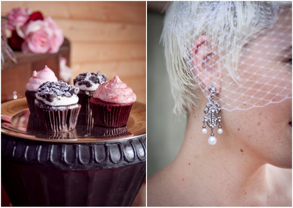 Cupcakes for Vintage Glam Wedding | Love Wed Bliss
