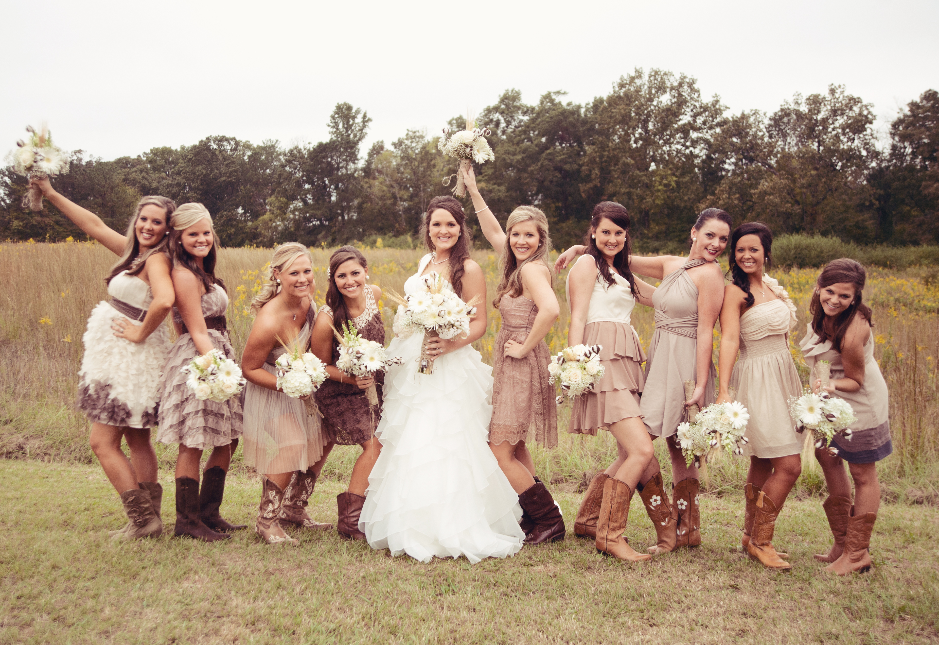 rustic bridesmaid dresses examples How to Plan a Rustic Wedding