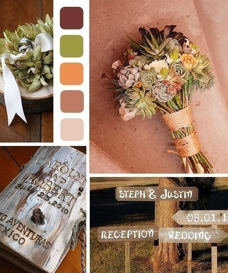 Rustic Wedding Colors