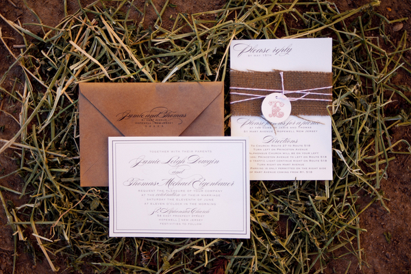 vintage glam barn wedding inspiration, Wedding invitations