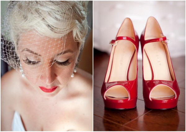 Vintage Glam Red Wedding Shoes | Love Wed Bliss