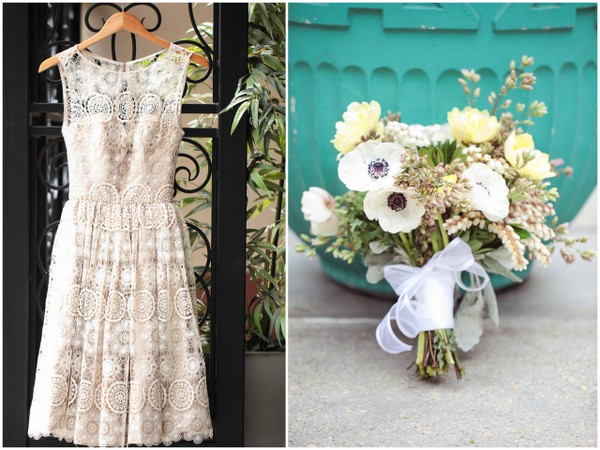 Mad Men Wedding Theme Dress & Bouquet | Love Wed Bliss