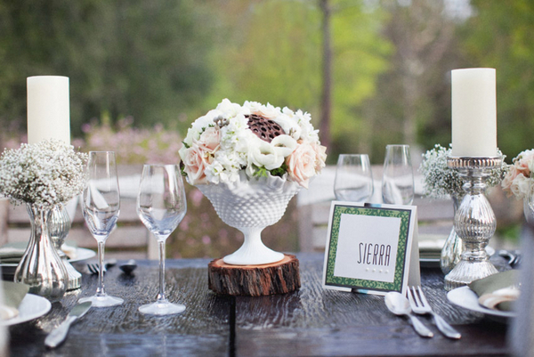 outdoor winter wedding tablescape Outdoor Winter Wedding Theme Ideas