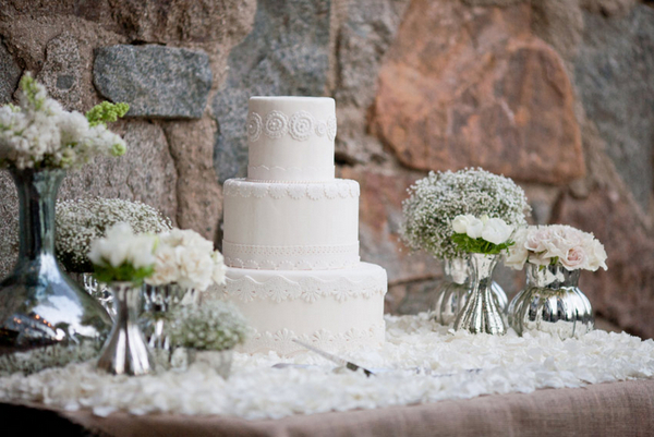 winter wedding theme cake ideas Outdoor Winter Wedding Theme Ideas